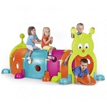 Tunel dla dzieci. Do ogrodu i wnętrza. Idealny do domu, na plac zabaw, do ogrodu. Hit wśród przedszkolaków. Gąsienica składa się z modułów, które można montować na rożne sposoby...