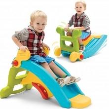 2w1 Slide to Rocker to wielofunkcyjna zabawka, która idealnie nadaje się do zabawy w domu jak i w ogrodzie.