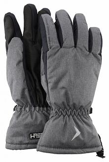 Rękawice narciarskie męskie  REM600 - ciemny szary melanż - Outhorn