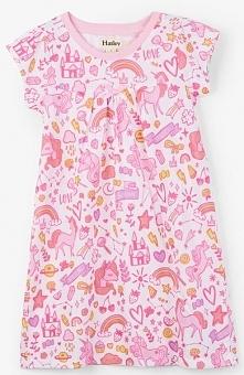 Hatley Koszula Nocna Dla Dziewcząt 92 Biały/Różowy