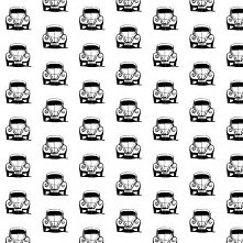 Garbusek- uszyj coś z tego :) tkanina z motywem dla miłośników  retro motoryzacji :)