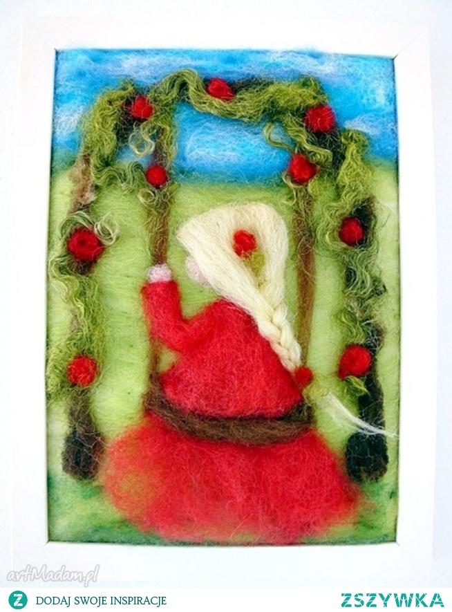 Różany ogród. Obraz z kolekcji Die wunderschöne Kindheit