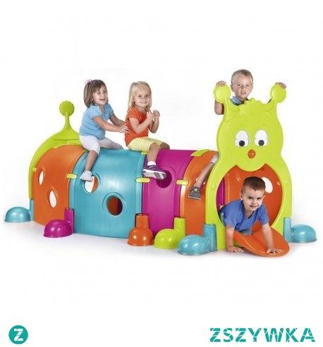 Tunel dla dzieci. Do ogrodu i wnętrza. Idealny do domu, na plac zabaw, do ogrodu. Hit wśród przedszkolaków. Gąsienica składa się z modułów, które można montować na rożne sposoby. Tunel do przechodzenia dla dzieci to doskonałe uzupełnienie sali lub placu zabaw.