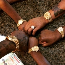black, golr, watch, tatto, rich,