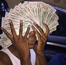 black, boy, money, gold, grillz, car