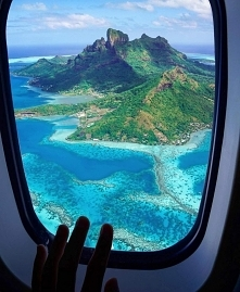 plane, fly, island, picture, dream, amazing