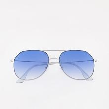 Okulary przeciwsłoneczne aviatorki - Złoty