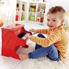 Pianino czerwone dla dziecka do zabawy uniw