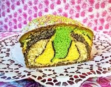 Ciasto Mozaika . Forma , dość spora keksówka 14 cm. na 30 cm. Składniki 10 - ...
