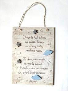 Drewniana deseczka z modlitwą do powieszenia na ścianie to świetna dekoracja ...