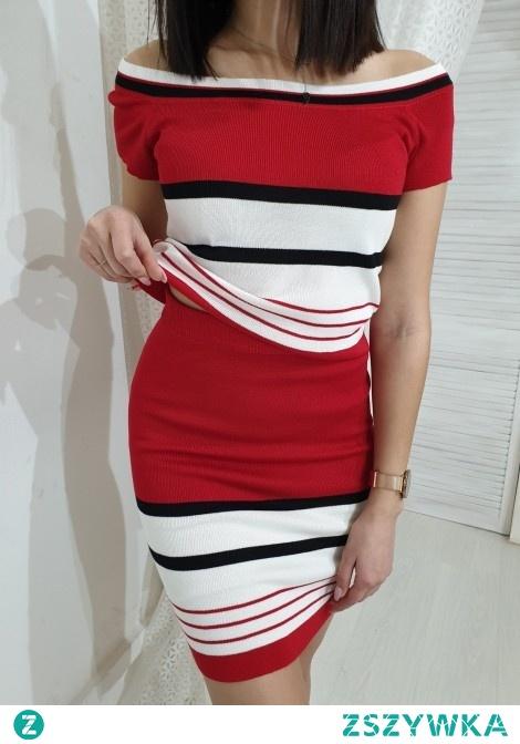 Komplet spódnica + top FEMME czerwony. Ottanta - sklep online
