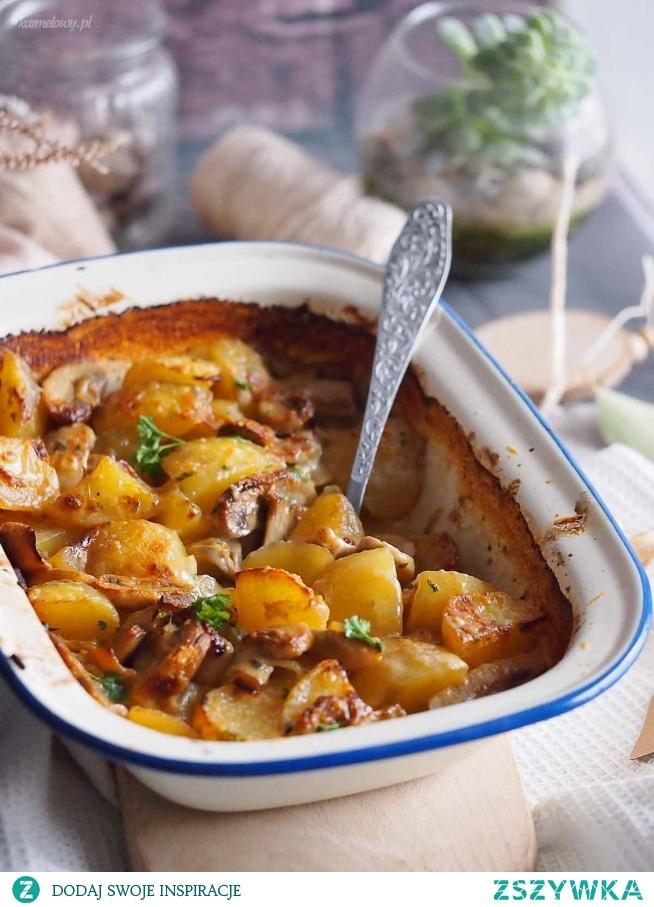Zapiekane ziemniaki z grzybami i cebulą / Potato mushroom and onion bake