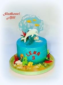 Tort z bajki Delfin Um