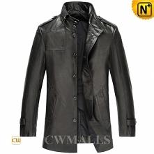 Custom Leather Coat | CWMALLS® Houston Mens Black Leather Coat CW816020 [Pers...