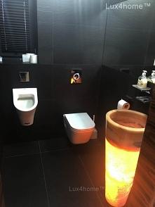 Wolnostojąca umywalka z onyksu - podświetlony onyks/. Podświetlenie umywalki ...