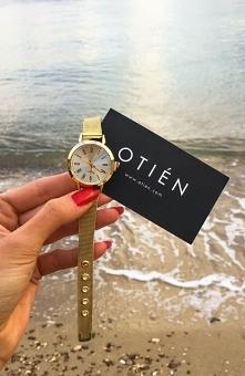 Złoty damski zegarek OTIEN