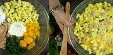 Placuszki z kurczakiem i warzywami