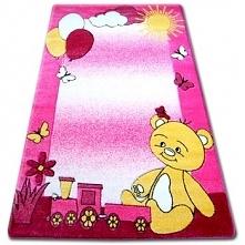Dywan dziecięcy HAPPY C210 różowy Miś, 160x220 cm