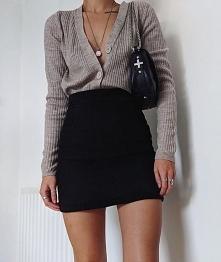 Modna stylizacja ze spódnic...
