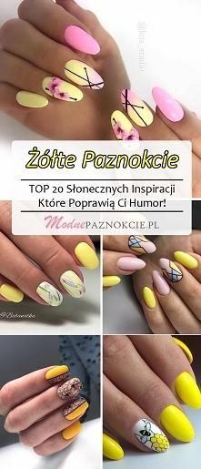 Żółte Paznokcie – TOP 20 Słonecznych Inspiracji Które Poprawią Ci Humor!