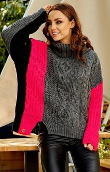 Kolorowy sweter w paski LS2...