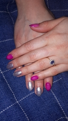 thermal pink and shiny silver