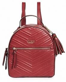Guess Damski Plecak Liz Quilted Backpack Burgundy