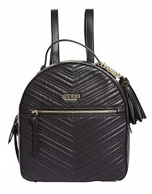 Guess Damski Plecak Liz Pikowany Backpack Black