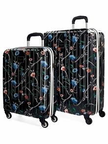 2-częściowy zestaw walizek w kolorze czarnym