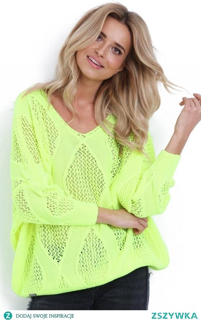 Fobya F626 sweterek zielony neon