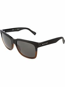 Męskie okulary przeciwsłoneczne w kolorze brązowo-szarym