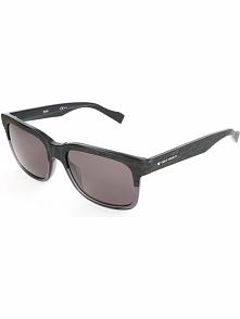 Męskie okulary przecwsłoneczne w kolorze czarno-szaro-brązowym