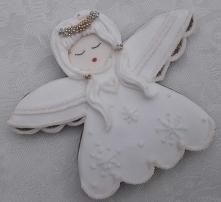 Pierniki, podziekowanie dla gości komunijnych, aniołek.