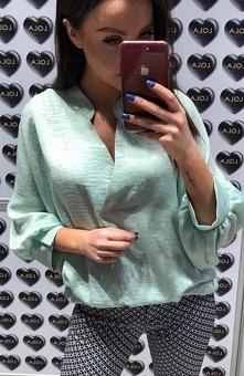 Lola Fashion bluzka oversize miętowa