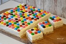 Posmakuje dzieciom i dorosłym. Szybkie ciasto bez pieczenia, kolorowe jak Mad...