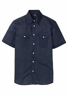 Koszula z krótkim rękawem bonprix ciemnoniebieski