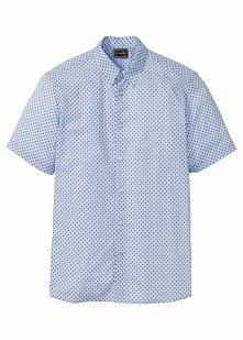 Koszula z krótkim rękawem w kropki bonprix jasnoniebieski w kropki