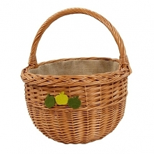 Wiklinowy koszyk na ziemniaki lub warzywa