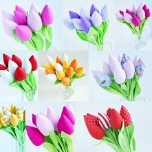 tulipany bawełniane handmade