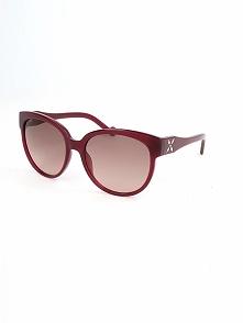 Damskie okulary przeciwsłoneczne w kolorze brązowo-czerwonym
