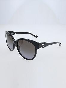 Damskie okulary przeciwsłoneczne w kolorze szaro-czarnym