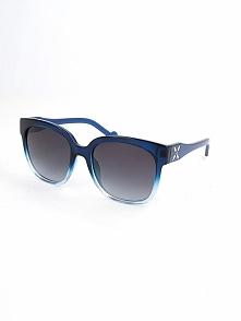 Damskie okulary przeciwsłoneczne w kolorze szaro-niebieskim