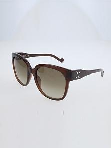 Damskie okulary przeciwsłoneczne w kolorze szarozielono-brązowym