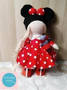 piekna laleczka myszka w sukience w kropki serdecznie zapraszam lalki z mozli...