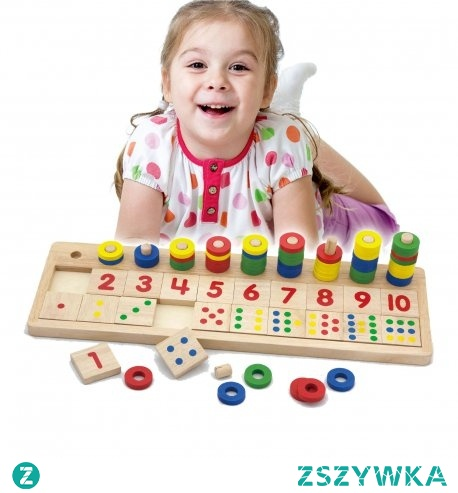 Drewniane Liczydło kreatywne Liczarka od firmy Viga to jedna z czołowych zabawek, która będzie służyła długo i zapewni Twojemu dziecku wiele lat ciekawej i kreatywnej zabawy. Przy pomocy takiego liczydła nauka liczenia będzie jeszcze prosta i przyjemna. Drewniana liczarka składa się z 55 krążków, 20 klocków z numerami i kropkami, 1 podstawy i 10 kołeczków. Kolorowe liczydło cieszy oko i zachęca do zabawy. Liczydło zostało polakierowana i pomalowana bezpiecznymi dla dziecka farbami w żywe barwy, które zadowolą każdego użytkownika i dadzą mnóstwo radości z zabawy.