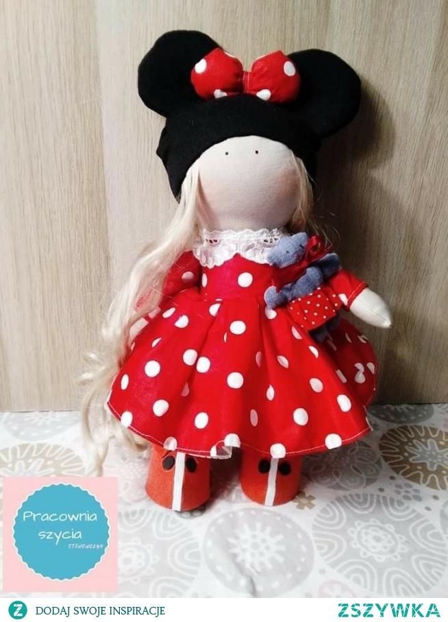 piekna laleczka myszka w sukience w kropki serdecznie zapraszam lalki z mozliwoscia personalizacji