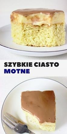 """Szybkie ciasto """"Monte"""" z budyniem i czekoladą."""