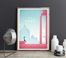 Rzym - vintage plakat 50x70 cm