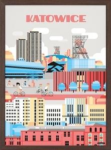 Plakat Katowice, 70x100