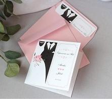 zaproszenia ślubne pudrowy ...